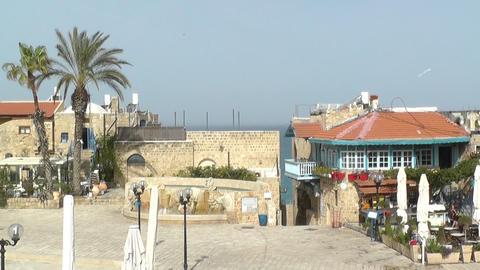 View of historic part of Jaffa,Tel Aviv Stock Video Footage