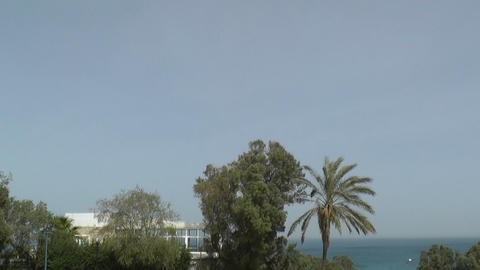 View of sea in old Jaffa city Stock Video Footage