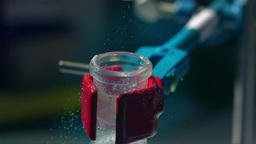 Chemistry Lab Slow Motion 46 stock footage