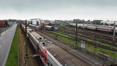 train is approaching Stock Video Footage