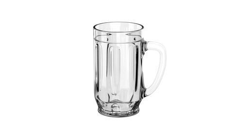 Empty beer mug Stock Video Footage
