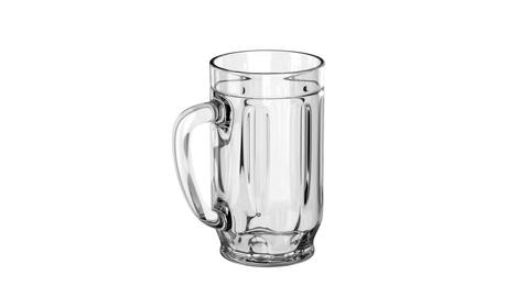 Empty beer mug Animation