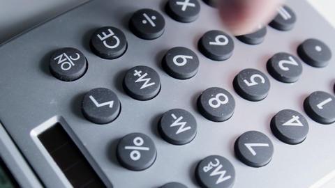 Calculator Overhead Stock Video Footage