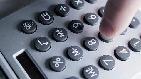 Calculator Overhead stock footage
