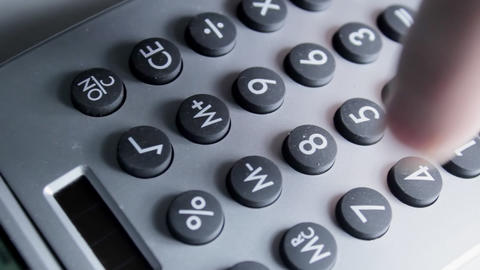 Calculator Overhead Stock Video Footage