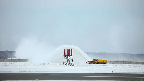 Snowplow Stock Video Footage
