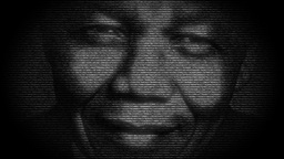 Nelson Mandela, Digital Animation With Numbers Run stock footage