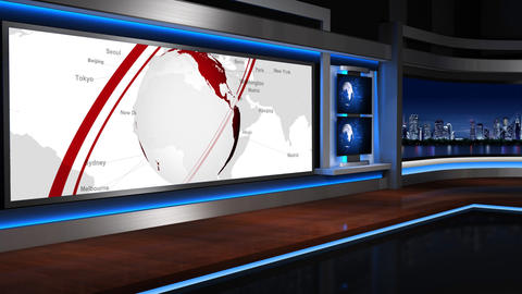 Virtual studio 055 Stock Video Footage