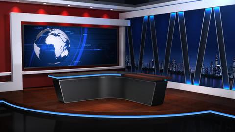 Virtual studio 058 2 Stock Video Footage