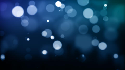 Blue defocused Particles_030 Stock Video Footage