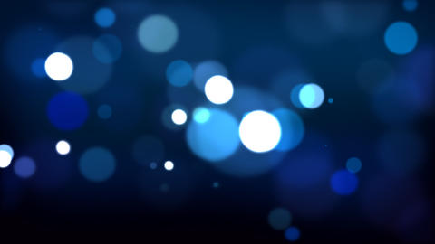 Blue defocused Particles HD_024 Stock Video Footage