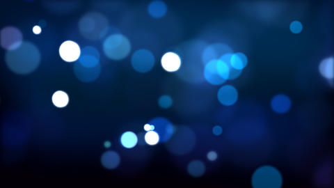 Blue defocused Particles HD_024 Stock Video Footage