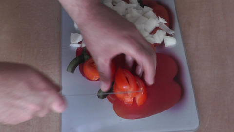 The making of pizza Stock Video Footage