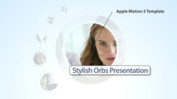 Stylish Orbs Presentation - Apple Motion and Final Cut Pro X Template Apple Motion Template