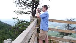 Pilot Mountain Tourist Stock Video Footage