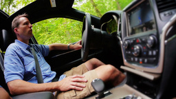 Man Driving Stock Video Footage