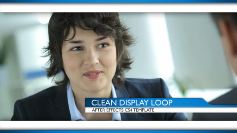 Clean Display Loop - After Effects Template After Effectsテンプレート