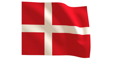 Danish flags 018 Stock Video Footage