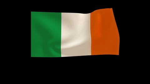 Ireland flag_015 Stock Video Footage