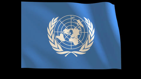The United Nations (U.N.) Flag_012 Stock Video Footage