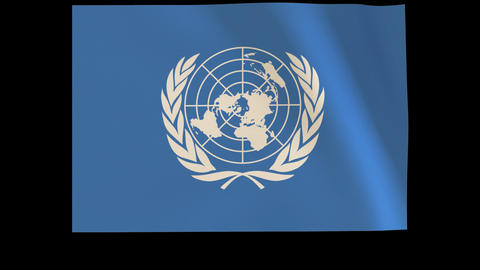 The United Nations (U.N.) Flag_012 Animation