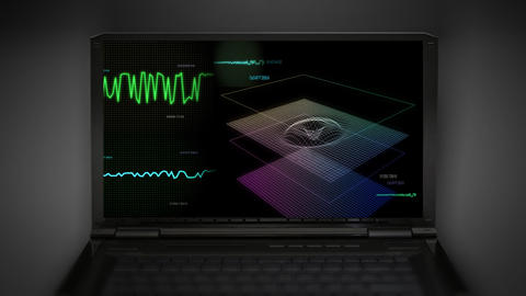 audio wave screen control Stock Video Footage