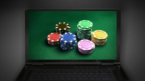 Casino 6 of chips Stock Video Footage