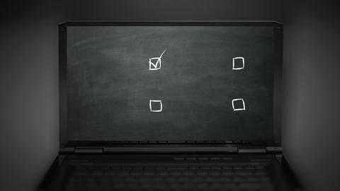 multiple choice selection Animation