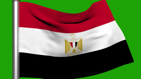 Flag Animation Egypt Stock Video Footage