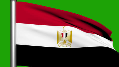 Flag Animation Egypt stock footage