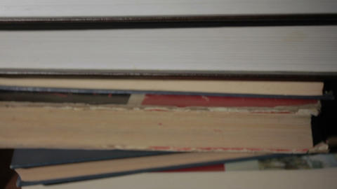 Stack of Old Books Stock Video Footage