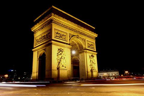 Triumph Arch, Paris. 4K Stock Video Footage