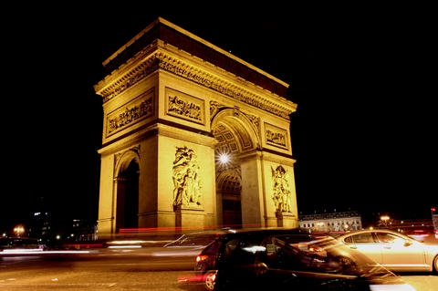 Triumph Arch, Paris. 4K stock footage