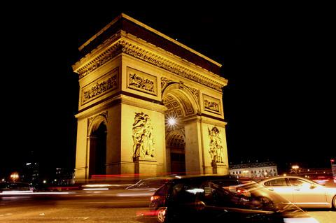Triumph Arch, Paris. 4K Footage
