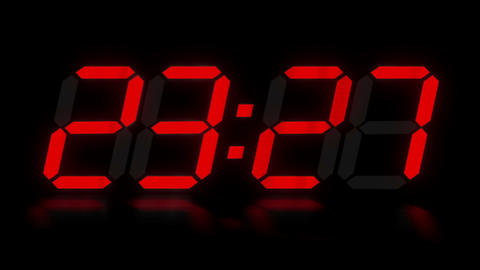 clock 5 Stock Video Footage