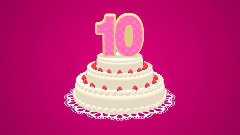 Birthday cake Animation