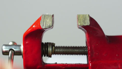Closing Small Red Vise Grip stock footage