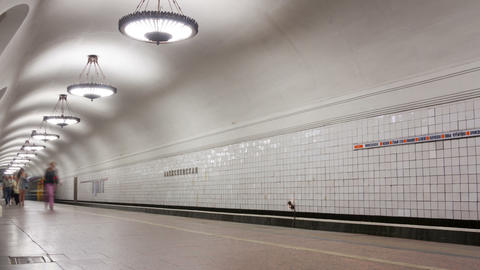 Subway station timelapse Stock Video Footage