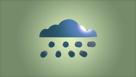 Cloudy rain Stock Video Footage