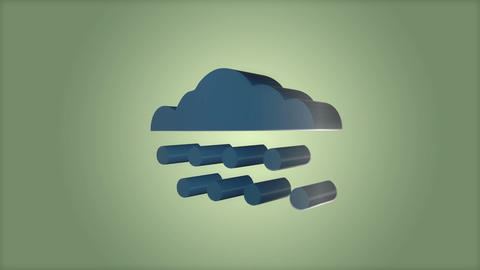 Cloudy rain Animation