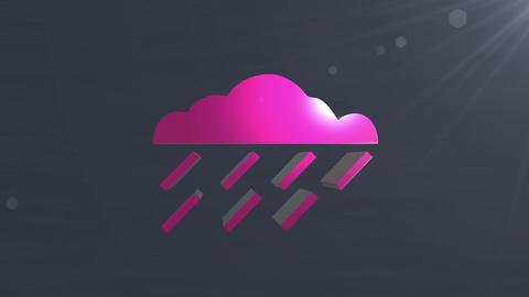 Cloud icon Stock Video Footage