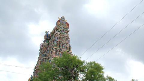 Top of The Meenakshi Temple Stock Video Footage
