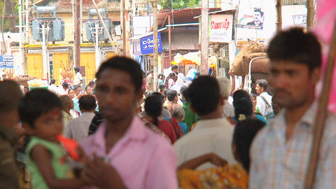 Crowd India Stock Video Footage