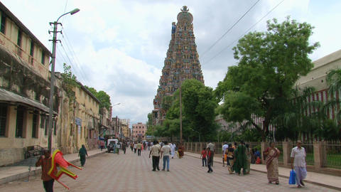 People at The Meenakshi Temple Stock Video Footage