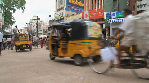 Pan from a tuk tuk Stock Video Footage
