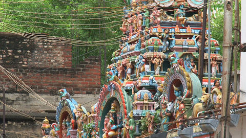 Statues near The Meenakshi Temple Footage