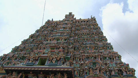 Top of The Meenakshi Temple Stock Video Footage