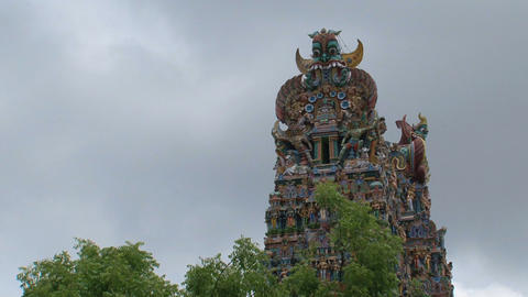 Top of The Meenakshi Temple Footage