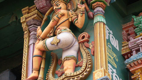 statue the Meenakshi Temple Stock Video Footage