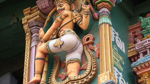 statue the Meenakshi Temple Footage